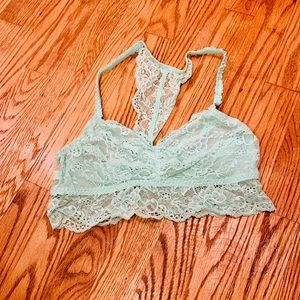 Turquoise Lace Bralette